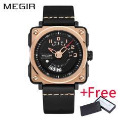 Spesifikasi Wholesaler Megir Ml2040G Men Watch Jam Tangan Fashion Quartz Watch Jam Tangan Es Clock Men Leather Strap Military Watch Jam Tangan Megir Terbaru