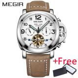 Toko Grosir Megir Ml3206G Original Men Watch Jam Tangan Top Brand Luxury Automatic Mechanical Watch Jam Tangan Kulit Militer Watch Jam Tangan Es Jam Murah Tiongkok