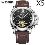Diskon Grosir Megir Ml3206G Original Men Watch Jam Tangan Top Brand Luxury Automatic Mechanical Watch Jam Tangan Kulit Militer Watch Jam Tangan Es Jam 5 Pcs Pack Akhir Tahun