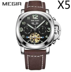 Toko Grosir Megir Ml3206G Original Men Watch Jam Tangan Top Brand Luxury Automatic Mechanical Watch Jam Tangan Kulit Militer Watch Jam Tangan Es Jam 5 Pcs Pack Murah Di Tiongkok