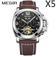 Review Toko Grosir Megir Ml3206G Original Men Watch Jam Tangan Top Brand Luxury Automatic Mechanical Watch Jam Tangan Kulit Militer Watch Jam Tangan Es Jam 5 Pcs Pack