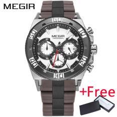 Situs Review Grosir Megir Mn3009G Original Men Watch Jam Tangan Chronograph Multifungsi Wristwatch Militer Jam Tangan 3D Dial Quartz Watch Jam Tangan Es Pria Clock