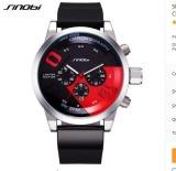 Diskon Grosir Sinobi Xin9680 Pria Olahraga Watches Tahan Air Hitam Dial Chronograph Quartz Wrist Watch 2017 Baru Fast Furious Intl Sinobi Tiongkok