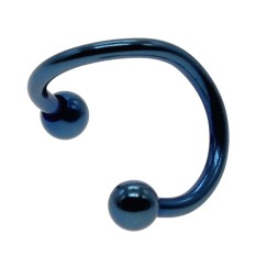 Whyus Populer Telinga Hidung Cincin Anting Hidung Stud Pria Wanita Body Piercing Perhiasan (Biru)