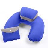 Spesifikasi Whyus Portable Travel Inflatable Leher Bantal Udara Pvc Flocking U Shape Meledakkan Bantal Biru Intl Intl Dan Harga