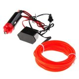 Toko Whyus Store 5M Flexible El Neon Light Glow Strip Rope Wire Tube 12V Inverter For Car Vehicle Red Dekat Sini