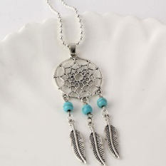 Whyus-Unique Charm Women Necklace Turquoise Dream Catcher Pendant Necklace # 02 - intl