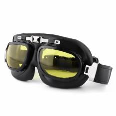 Windproof Motor Kacamata Berkendara Retro Lensa PC Motor Ski Kacamata Sepeda Motorcross Klasik Kacamata untuk Harley