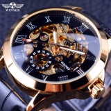 Beli Winner 3 Dial Golden Metal Series Men Watches Top Brand Luxury Automatic Watch Intl Murah