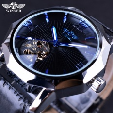 Spesifikasi Pemenang Blue Ocean Geometri Desain Transparan Skeleton Dial Men Watch Top Brand Luxury Otomatis Fashion Mechanical Watch Clock Intl Yg Baik