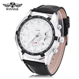Cara Beli Pemenang F120535 Pria Auto Mechanical Watch Kalender Luminous Arloji Intl