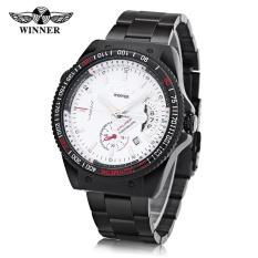Toko Pemenang F120594 Pria Auto Mechanical Watch Kalender Luminous Arloji Intl Terlengkap Di Indonesia