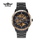 Cara Beli Winner Fashion Men S Automatic Mechanical Watch Stainless Steel Band Wristwatch Intl