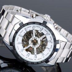 Harga Pemenang Luminous Merek Jam Tangan Pria Fashion Clock Skeleton Otomatis Mekanis Relogio Perempuan Mewah Montre Arloji Reloj Hombre Putih Satu Set