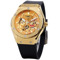 Toko Winner Luminous Luxury Automatic Mechanical Men Watch Skeleton Self Winding Sports Style Men Casual Wristwatch Rubber Band Masculino Relogio Box Intl Not Specified Tiongkok
