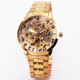 Jual Winner Luxury Skeleton Retro Dress Men S Automatic Mechanical Wristwatch Watches Man Metal Strap Top Brand Golden Case Gift Box 126 Intl Import