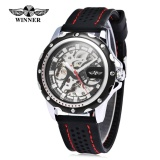 Beli Winner Male Auto Mechanical Watch Luminous Silicone Band Men Wristwatch Intl Nyicil