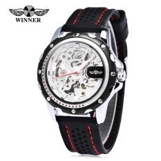 Review Toko Pemenang Pria Auto Mechanical Watch Luminous Silicone Band Pria Jam Tangan Intl