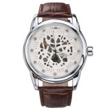 Beli Pemenang Men Automatic Mechanical Skeleton Arloji Kulit Band Tahan Air Brown 2 Intl Terbaru