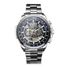 Beli Winner Men Decoration Dial Sports Business Automatic Mechanical Skeleton Stainless Steel Wristwatch Intl Cicil