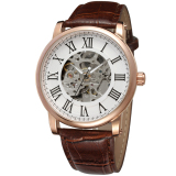 Toko Winner Men Mechanical Automatic Dress Watch With Gift Boxwrg8051M3R6 Brown White Online Tiongkok