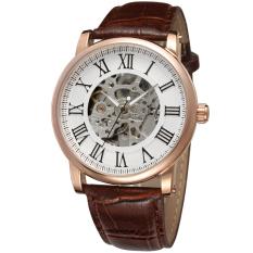 Harga Winner Men Mechanical Automatic Dress Watch With Gift Boxwrg8051M3R6 Brown White Termurah