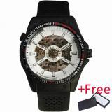 Harga Pemenang Pria Sport Casuall Mechanical Wrist Watch Jam Tangan Karet Strap Multifungsi Tachometer Gear Berbentuk Bezel Hitam Dial 076 Yg Bagus