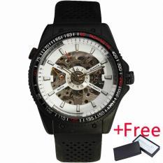 Beli Pemenang Pria Sport Casuall Mechanical Wrist Watch Jam Tangan Karet Strap Multifungsi Tachometer Gear Berbentuk Bezel Hitam Dial 076 Terbaru