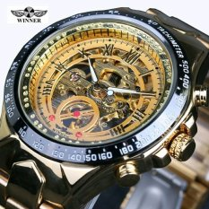 Perbandingan Harga Pemenang Pria Watch Skeleton Otomatis Stainless Steel Gelang Analog Display Brand Bisnis Wrist Watch Emas Intl Di Hong Kong Sar Tiongkok