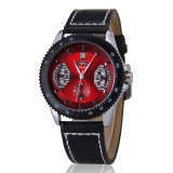 Jual Winner Military Mens Skeleton Watches Leather Strap Automatic Wrist Watches Intl Di Tiongkok