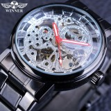 Beli Winner Pmw269 Transparent Steampunk Montre Homme Black Retro Casual Mens Watches Top Brand Luxury Full Steel Skeleton Mechanical Watch Intl Murah Tiongkok