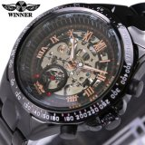 Katalog Pemenang Relojes Jam Tangan Atas Paintable For Mens Classic Stainless Steel Self Wind Skeleton Mechanical Watch Fashion Cross Jam Tangan Terbaru