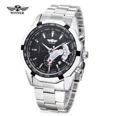 Jual Pemenang W050 Pria Auto Mechanical Watch Luminous Tanggal Jam Tangan Intl Import
