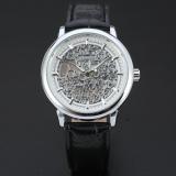 Harga Pemenang Wanita Mechanical Wrist Watch Jam Tangan Tali Kulit Rose Golden Vine Hollowed Pola Golden Bezel 108 Dan Spesifikasinya