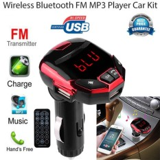 Nirkabel Bluetooth LCD FM Transmitter Modulator USB Mobil Kit MP3 Player SD Remote-Intl