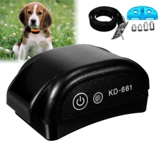 Nirkabel Pagar Anjing No-Wire PET Penahanan Rechargeable & Waterproof Receiver Hitam-Intl