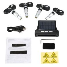 Jual Beli Wireless Solar Car Tpms Tire Pressure Monitoring System With 4 Internal Sensors Bar Psi Unit Intl Di Tiongkok