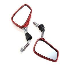 Wise Membeli Pair Motor Sisi Spion Belakang Skeleton Tangan Merah 10mm For Suzuki