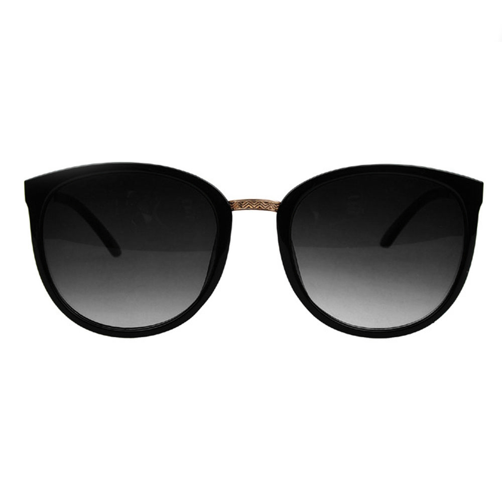 Wise Membeli Perempuan Cewek Kacamata Hitam UV400 Vintage Retro Bingkai  Logam Perlindungan Hitam Bingkai 8544f27419
