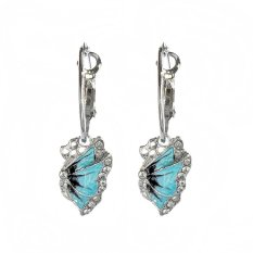 Witkey FSB Elegan Butterfly Pearl Earrings Ear Girl Kosmetik Aksesori (Biru) WF-OM5 (Warna: Seperti Gambar Pertama)-Intl
