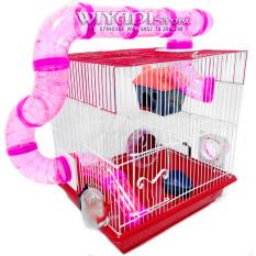 Harga Wiyadistore K17 Kandang Hamster 2 Tingkat Terowongan Satu Set