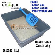Beli Wiyadistore Paket Tempat Kotoran Kucing Litter Box L Scoop Pasir Pasir Wangi Murah Di Dki Jakarta