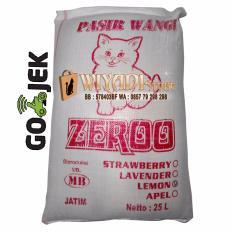 WiyadiStore - Pasir Gumpal Wangi Kucing 1 Karung - Cat Sand Zeroo 25 Liter