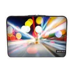 WOFALO 12.6 12.8 13 13.3 Inch Laptop Sleeve Case Casing Cover Neoprenefor MacBook/Netbook/Laptop/Notebook/ Ultrabook City Lights dan Fastmoving Mobil-Intl