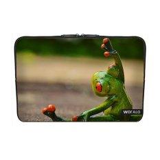 WOFALO 12.6 12.8 13 13.3 Inch Laptop Sleeve Case Casing Cover Neoprenefor MacBook/Netbook/Laptop/Notebook/ Ultrabook Olahraga Gymnasticsfrog Lucu Kebugaran untuk Latihan Olahraga-Intl