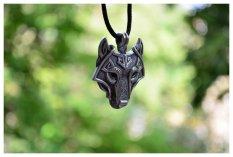 Jual Wolf Vikings Pendant Kalung Norse Wolf Head Kalung Original Perhiasan Binatang Wolf Head Hange Intl Oem Di Tiongkok