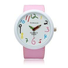 Toko Womage Tempat Pensil Besar Kuarsa Penunjuk Wrist Watch Pink Online Terpercaya
