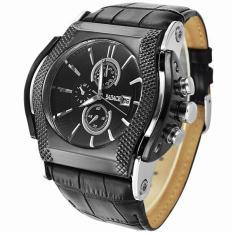 Review Womdee Merek Mewah Badace Quartz Watch Pria 3Atm Watch Militer Jam Tangan Pria Sport Jam Tangan Tali Kulit Watches Relogio Masculino Hitam Generic