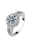 Review Perempuan 925 Sterling Perak Diamond Sekitar Keterlibatan Partai Pernikahan Perhiasan Kristal Not Specified