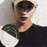 Harga Wanita Lingkaran Besar Anting Anting Eropa Dan Amerika Serikat Populer Wild Metal Geometris Earrings 8 Cm Intl New